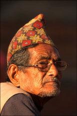 Nepali man with topi