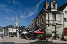 Chateau square in Langeais, France