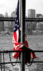 Manhattan and flag