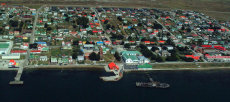Port Stanley from the air