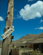 Major junction! Bodie National Park, California, USA