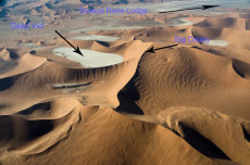 Looking back to Dead Vlei (with text)