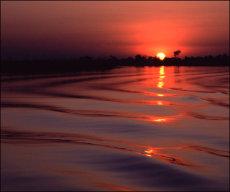 Sunset over Chobe River