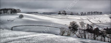 Peak District fields in snow