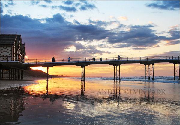 Sunset Saltburn Pier