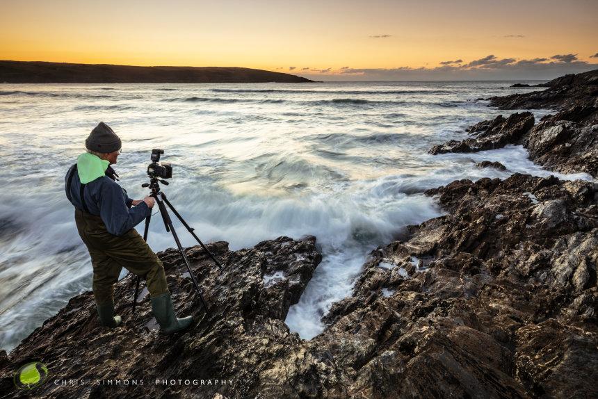 Anthony Snowdon shoots a Crantock sundown