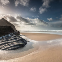 Bedruthan Winter Sunshine