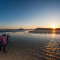Clive Saunders shoots the dawn