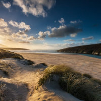 Crantock Dunes - Winter Passing
