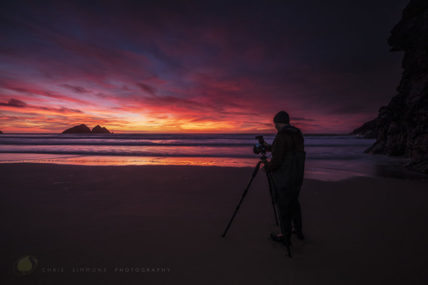 Ian Brennan on Holywell Bay