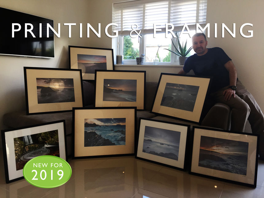 Ian Brennan after a busy day Printing and Framing