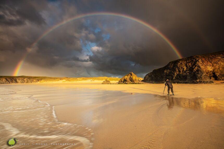 Tom Bird shooting a rainbow