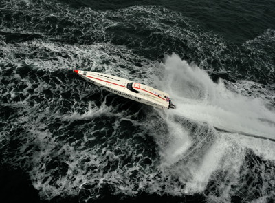 Fury racing at the British Powerboat Festival.