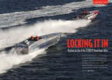 The opening spread for the Powerboat P1 Grand Prix of Spain article in H2O Full Throttle magazine.