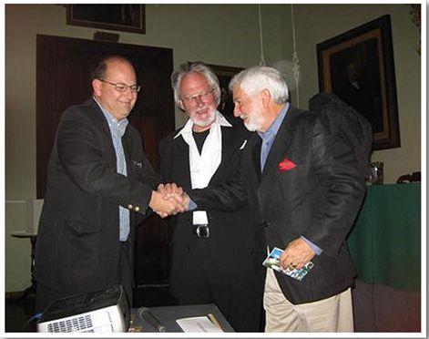 With Richard England and Eduardo Langagne