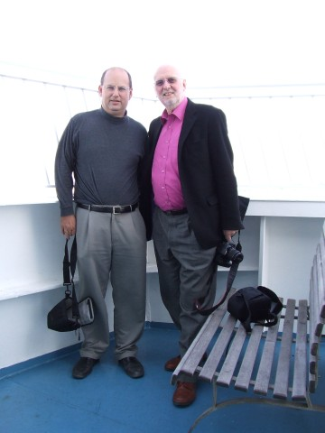 With Dennis Sharp on the ferry to Gozo