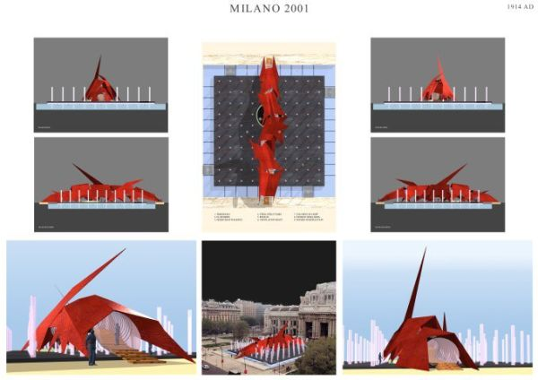 Competition entry, 'Il Segno Luminoso', Milan, 1999.