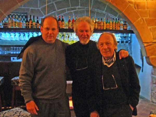 In the company of Richard England and Manfredi Nicoletti in Mdina