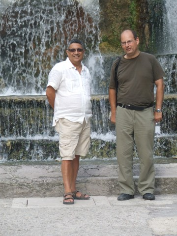 With architect Mario Pisani