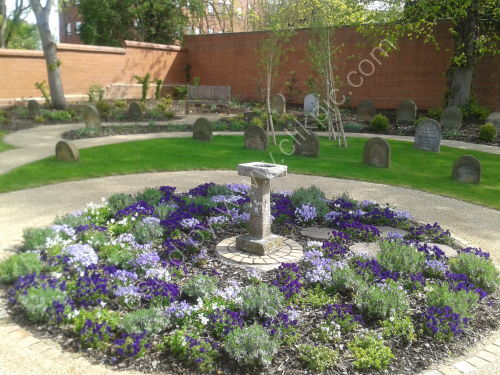 Circular Lavender Bed