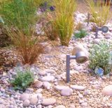 Border with pebbles and cobbles