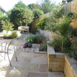 The two new sitting areas have made this garden an inviting retreat