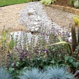 Wildlife pool with pebbles and cobbles