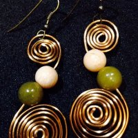 Antique bronze swirl earrings