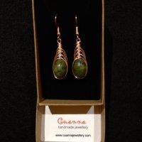 Herringbone Drop Earrings