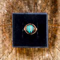 Cage wrap with turquoise