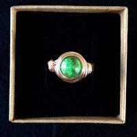 Green jasper in rose gold