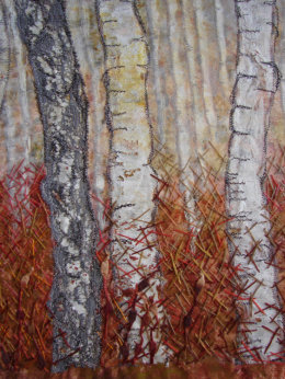 Birches at Barkbeth - detail SOLD