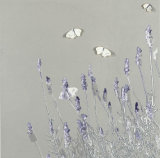 Butterflies and Lavender - Taupe