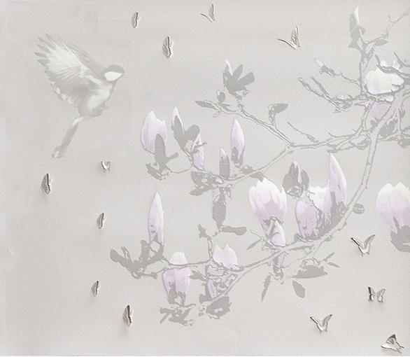 Butterflies, Bird and Magnolia.