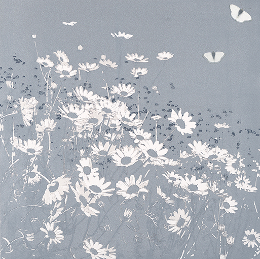 Butterflies and Daisies 1 - Blue