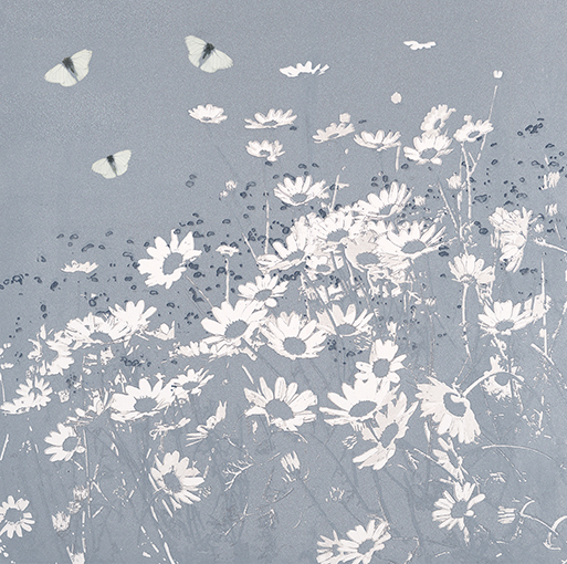 Butterflies and Daisies 2 - Blue