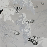 Butterflies and Buddleia - Silver