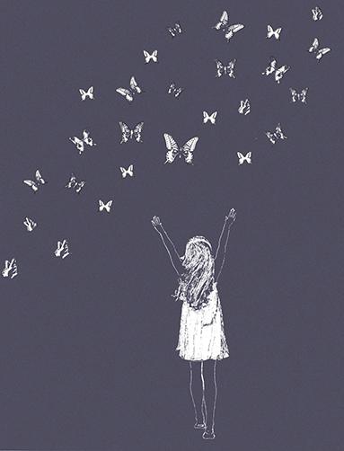 Butterfly Girl - Purple