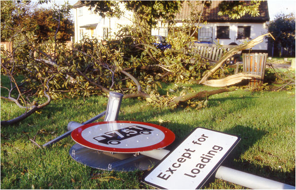 Storm damage Sproughton ©18th Oct 1987