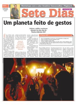 Sete Dias supplement - Pioneiro newspaper