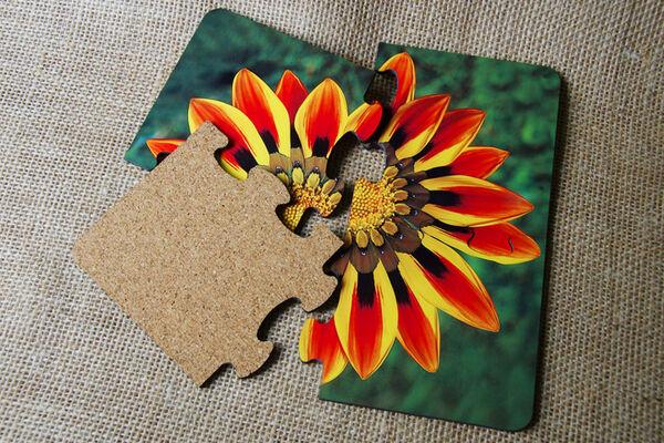 Puzzle Coasters - Gazania Flower
