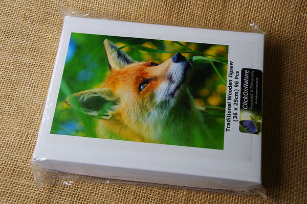 Jigsaw Puzzle - Fox in Yellow Gorse (96 Pieces)