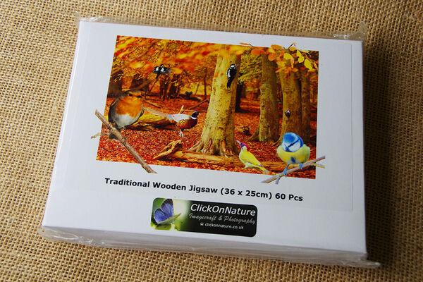 Jigsaw Puzzle - Woodland Birds (60 Pieces)
