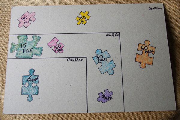 Jigsaw Puzzle Size Cart