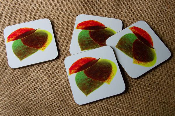 """Drinks Coasters """"Autumn Leaves"""""""