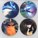 "Drinks Coasters ""Garden Birds"""