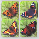 "Drinks Coasters ""Garden Butterflies"""