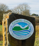 Gower AONB Sign