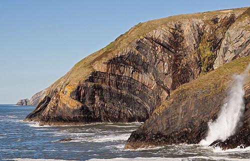 Turbidite Rocks -1 / Blowhole
