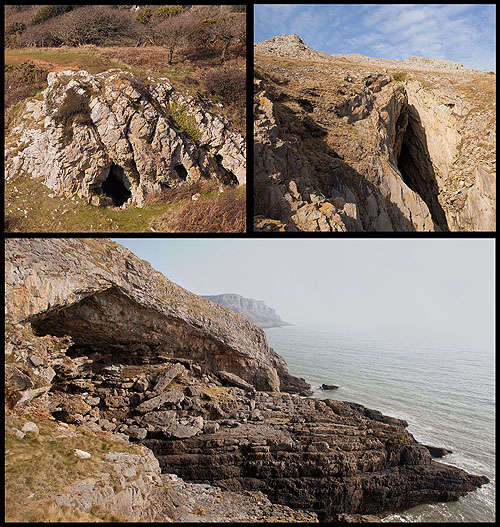 Pennard Cliff Caves